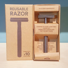 Load image into Gallery viewer, Metal Safety Razor with 10 blades