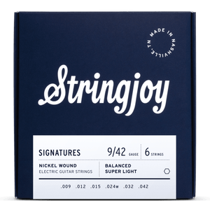 Stringjoy Signatures | Balanced Super Light Gauge (9-42) Nickel Wound Electric Guitar Strings