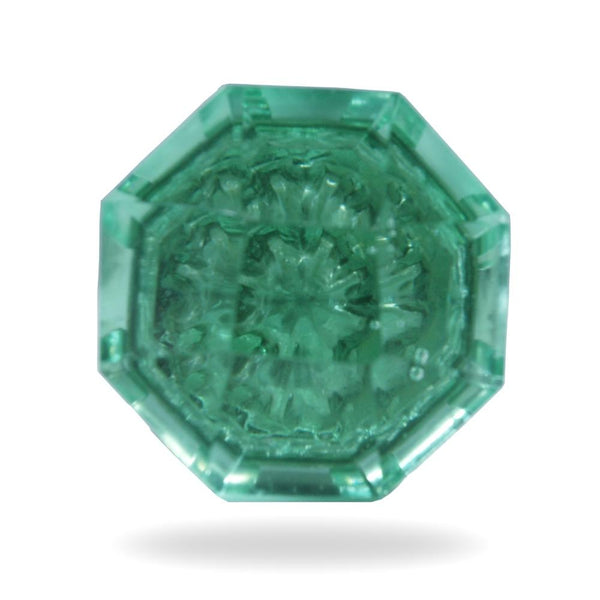 Set of 6 Kember Green Glass Knobs
