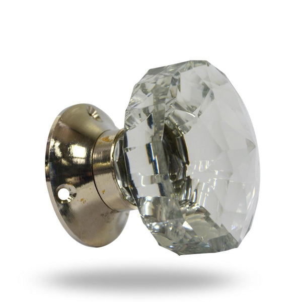 Cut Glass Mortice Knobs Clear