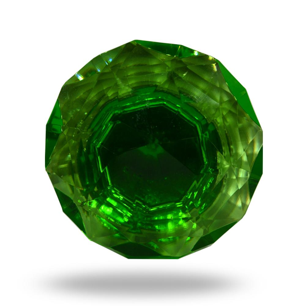Cut Glass Mortice Knobs Dark Green