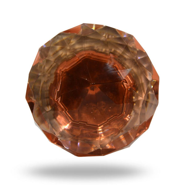 Cut Glass Mortice Knobs Dark Amber