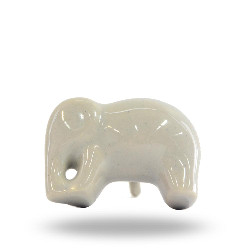 Set of 6 Ceramic Elephant Knobs