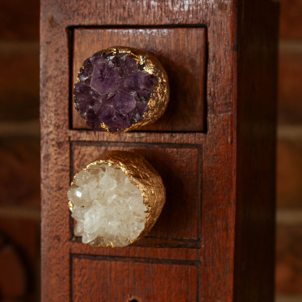 Set of Six Duran Amethyst Cupboard Novelty Knob Multipack