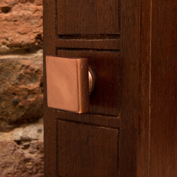 Set of Six Copper Portsoken Square Knob Multipack