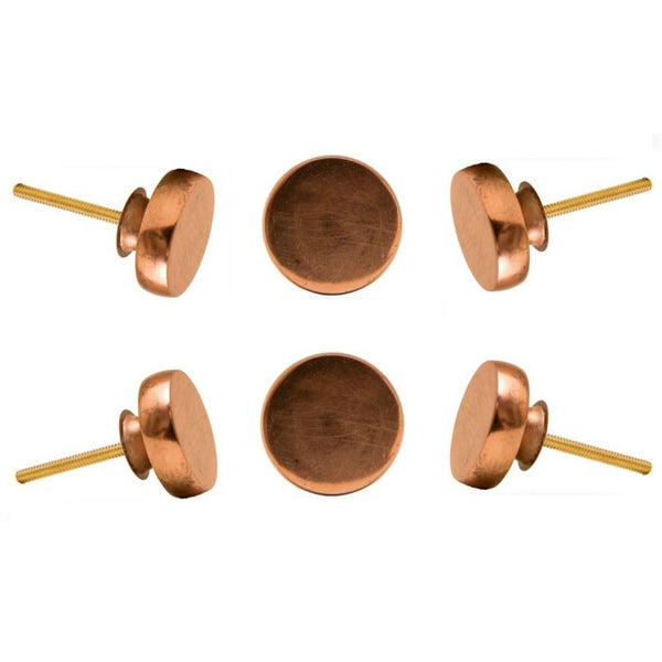 Set of Six Copper Portsoken Round Knob Multipack