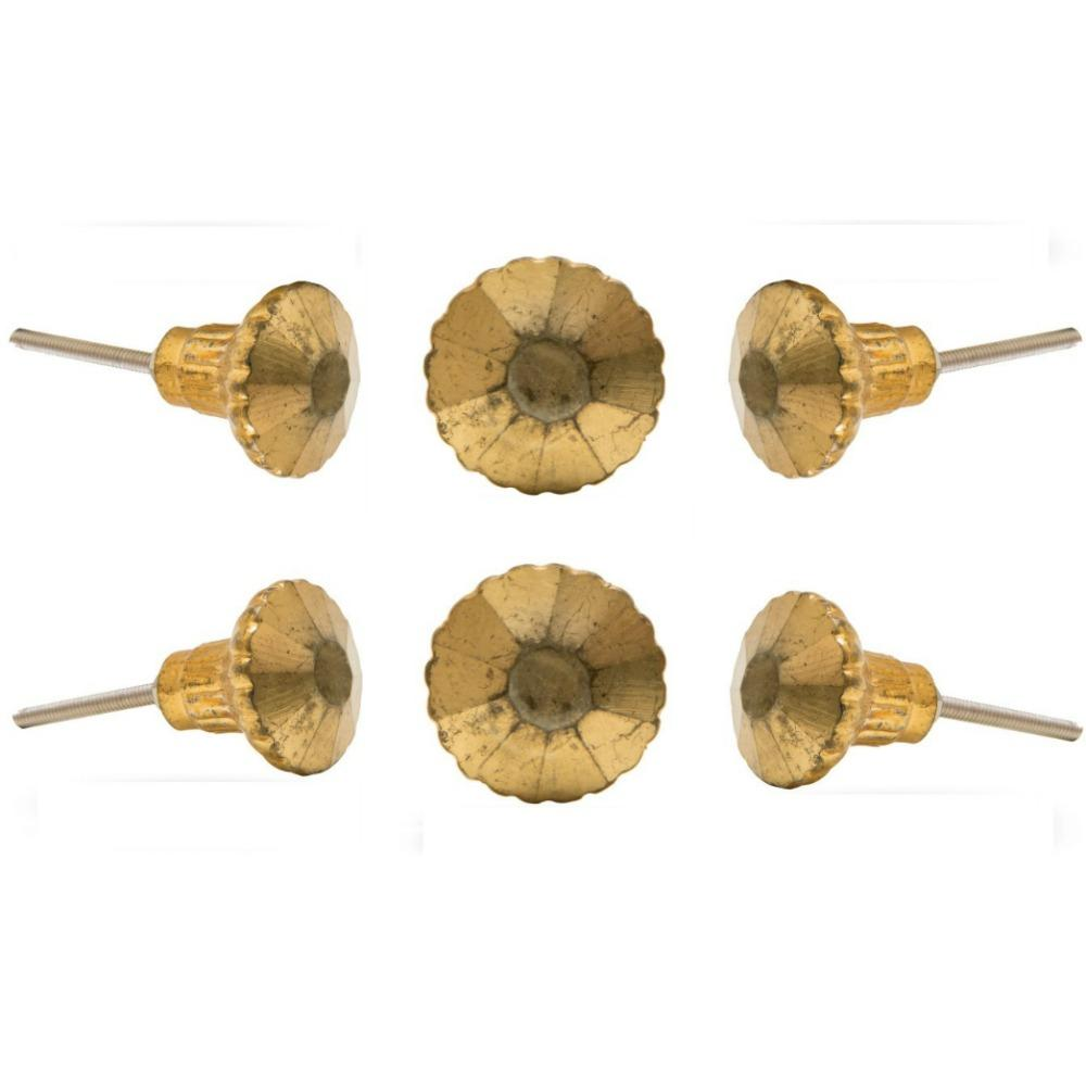 Set of 6 Antique Glass Novelty Knob Multipack