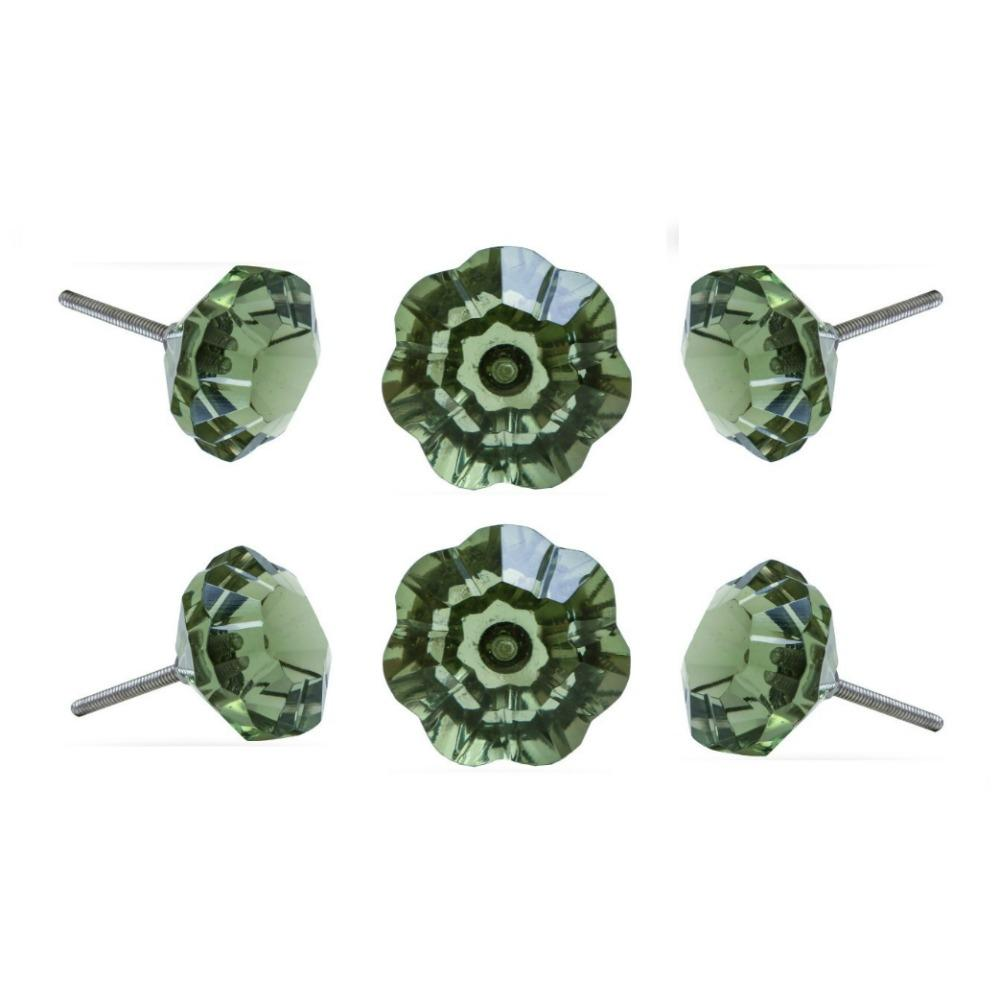 Set of Six Taos Glass Round Knob Multipack