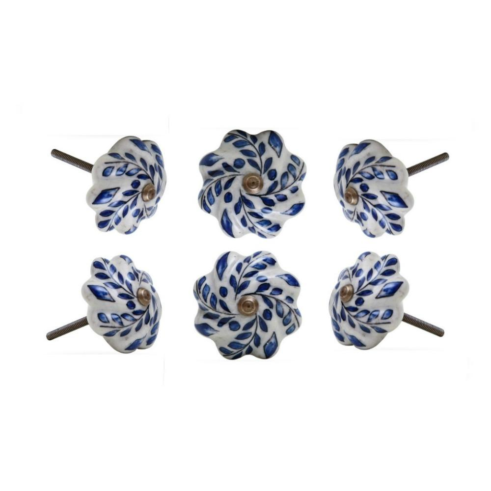 Set of Six Nindar Ceramic Novelty Knob Multipack