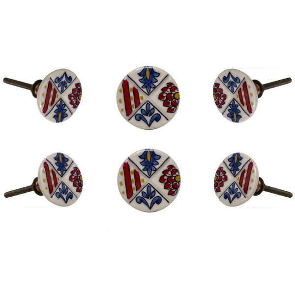 Set of six Lemont Ceramic Knobs