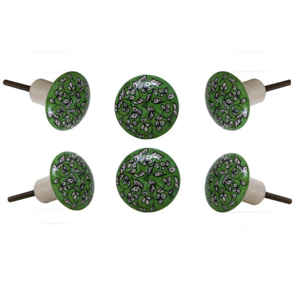Set of Six Potter Ceramic Knobs