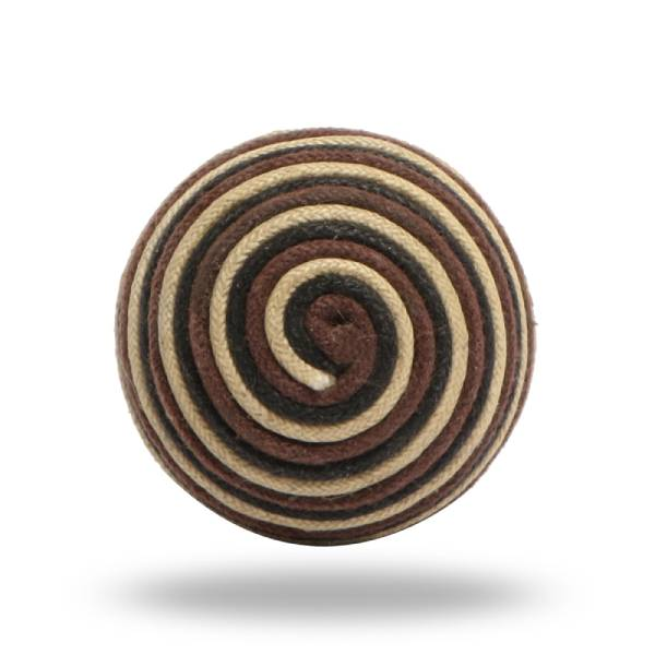 Terance Cord Spiral Knob Mixed Pattern Set of Six