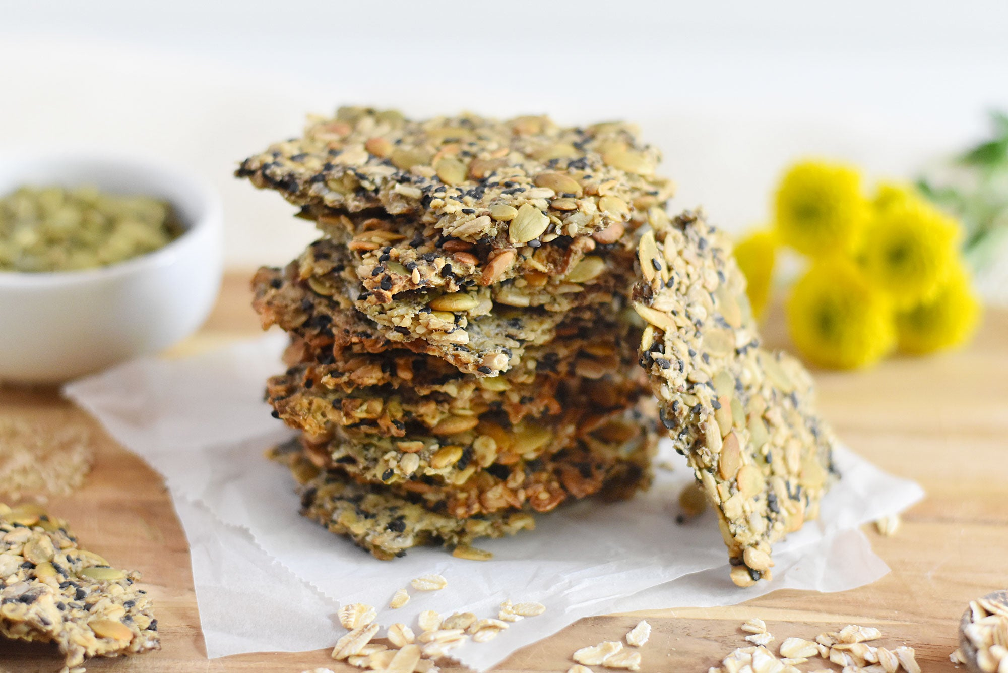 Oat and Seed Crackers