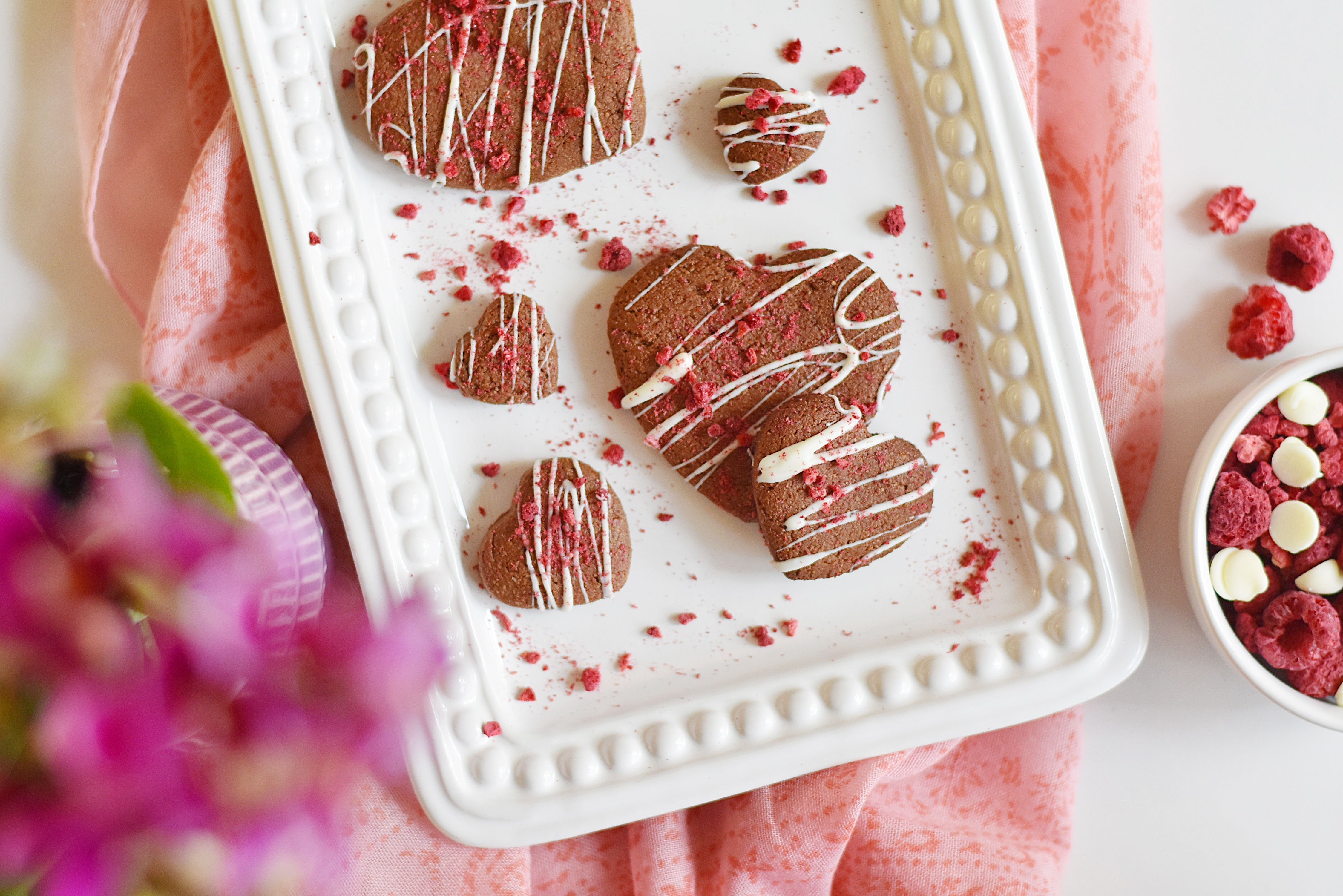 Almond and Oat Flour Heart Cookies