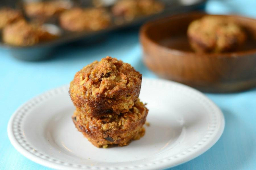 Carrot Apple Raisin Quinoa Muffins