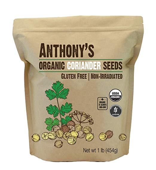 Coriander Seeds: Organic & Batch Tested Gluten Free