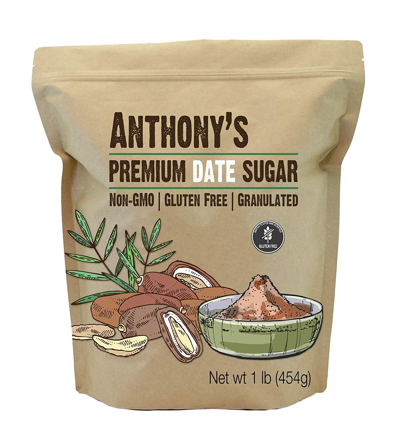 Premium Date Sugar: Batch Tested Gluten Free, Non-GMO, Vegan