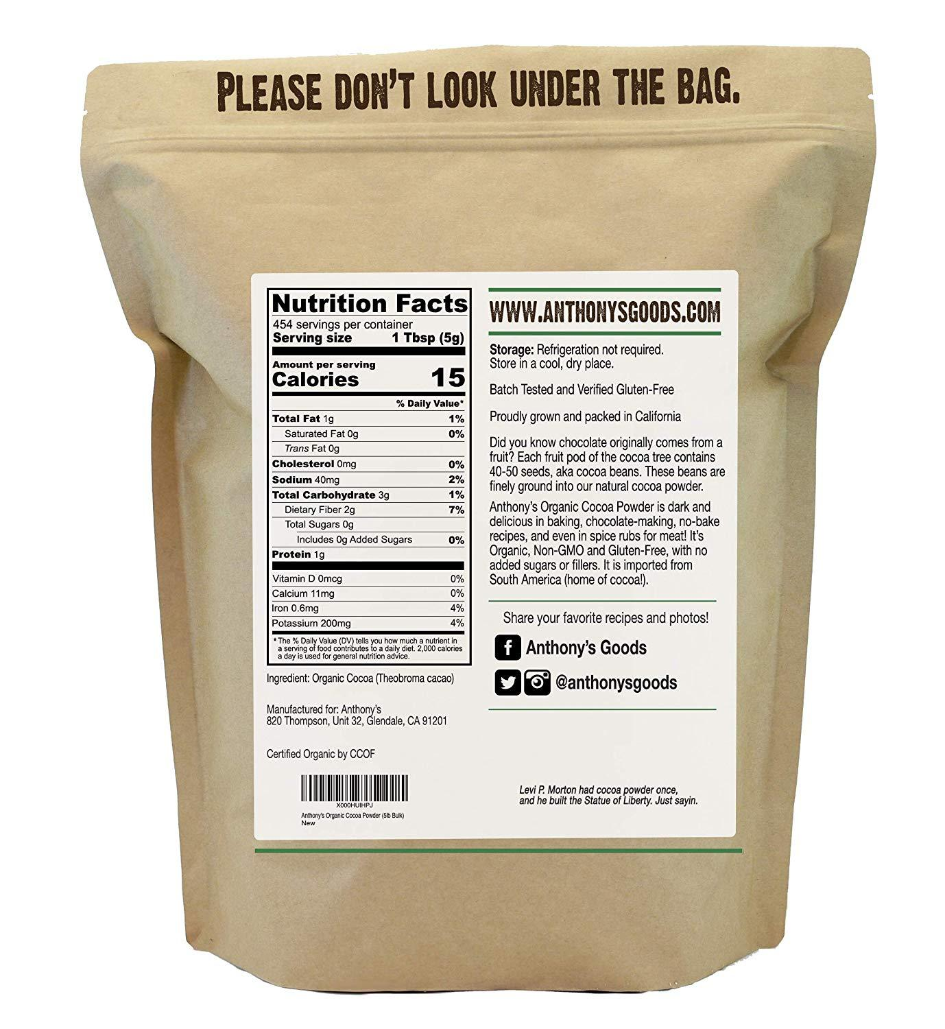 Cocoa Powder: USDA Organic & Batch Tested Gluten-Free