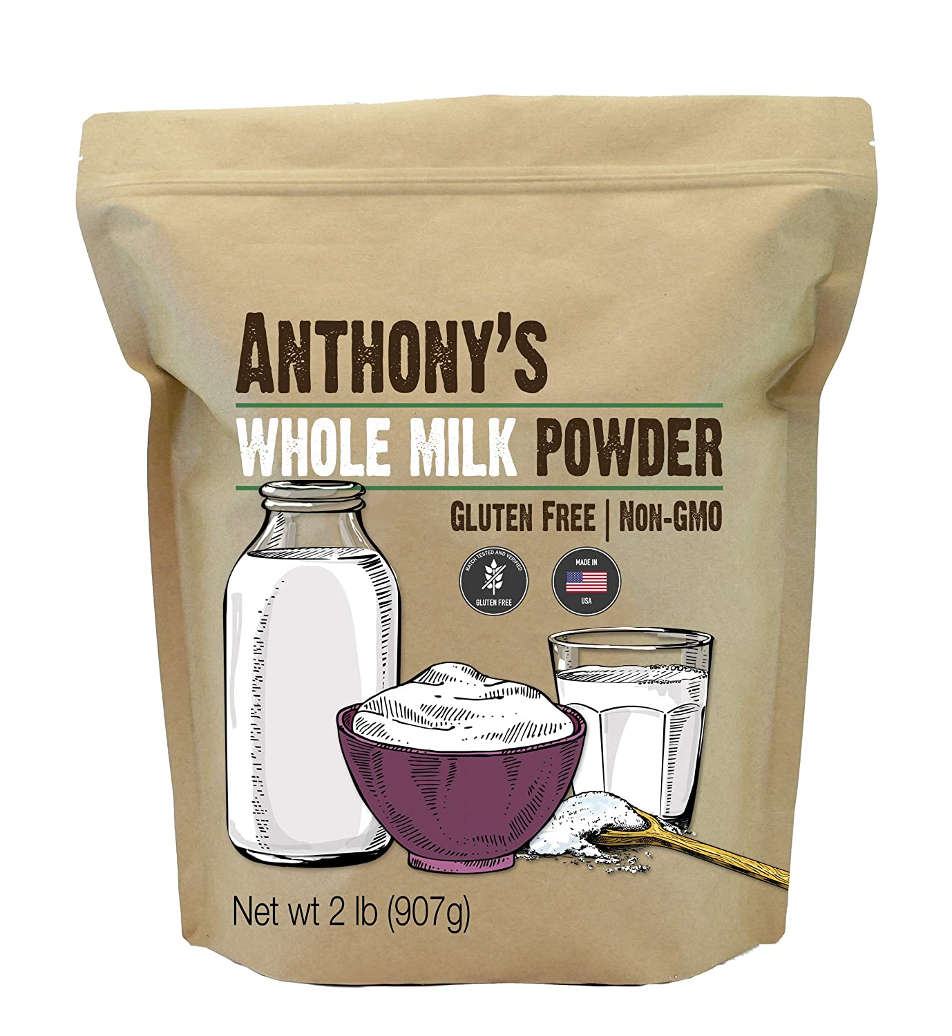 Whole Milk Powder: Gluten Free & Made in USA
