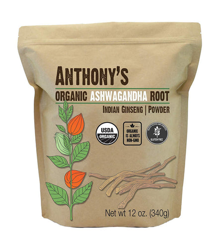 Ashwagandha Root Powder: USDA Organic & Batch Tested Gluten Free