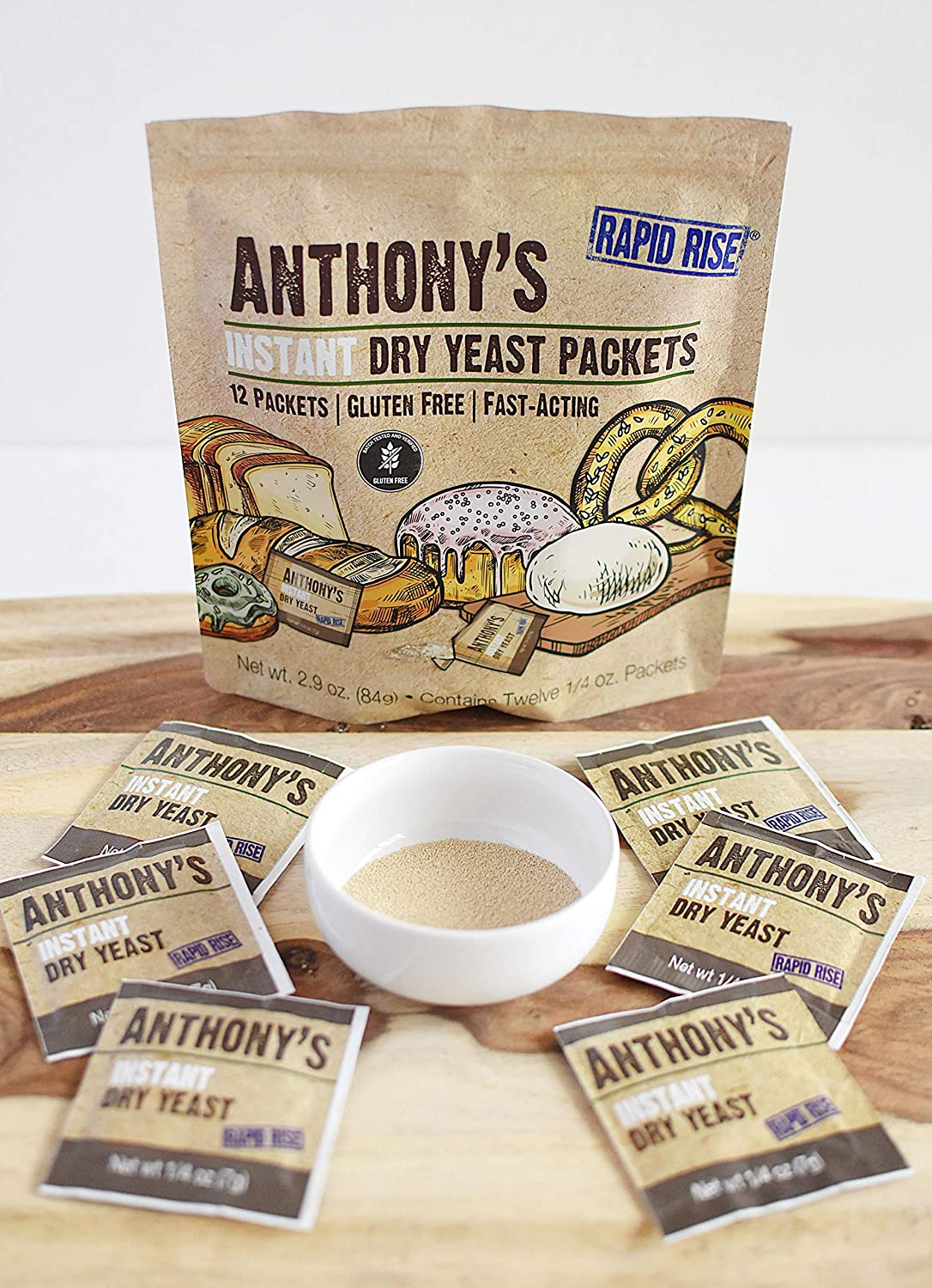 Instant Dry Yeast Packets: Gluten Free