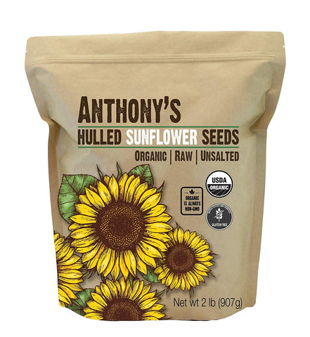 Hulled Sunflower Seeds: USDA Organic & Batch Tested Gluten Free