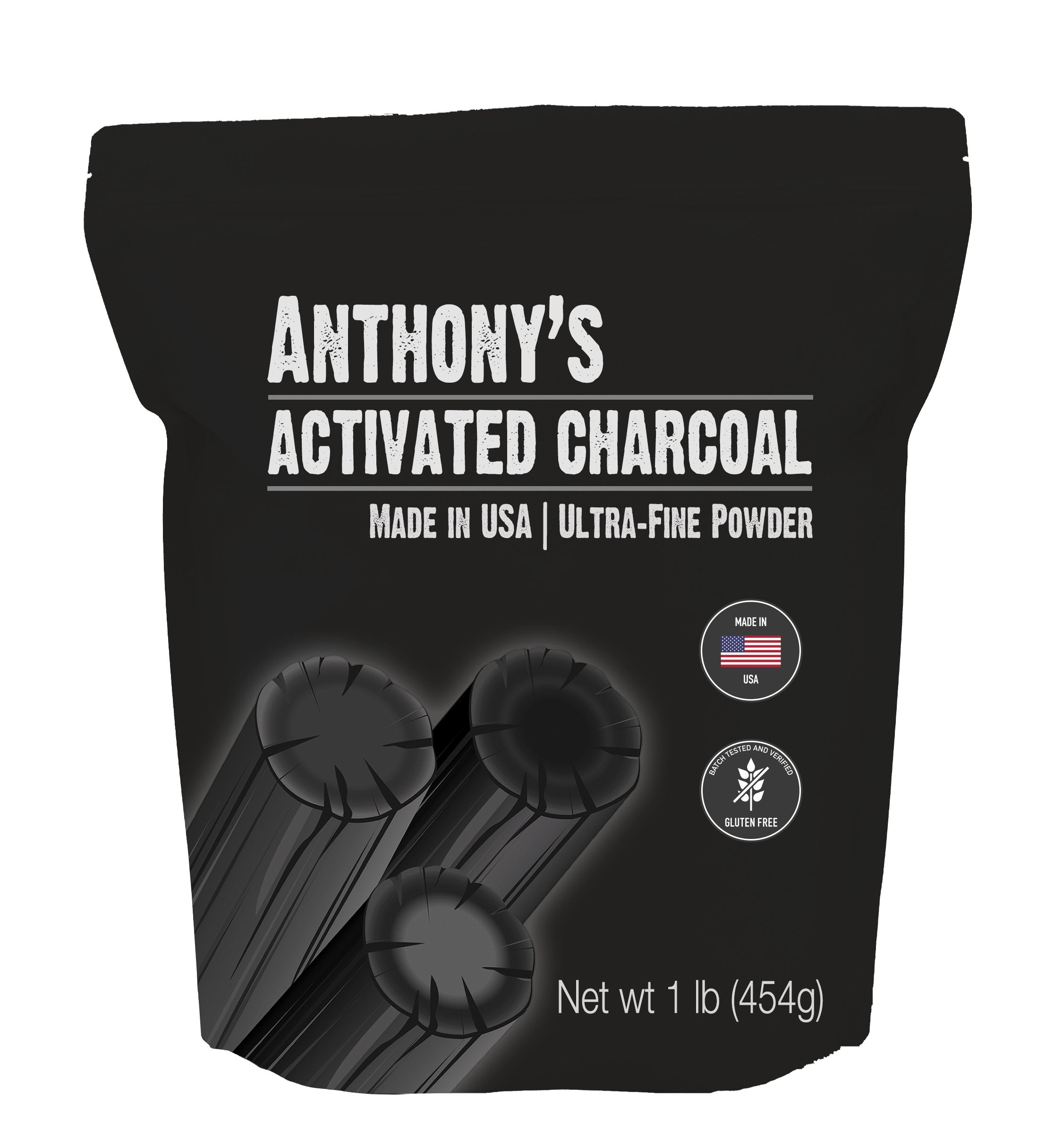Activated Charcoal: Ultra Fine Powder & Batch Tested Gluten Free