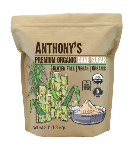 Natural Cane Sugar: USDA Organic & Certified Gluten-Free