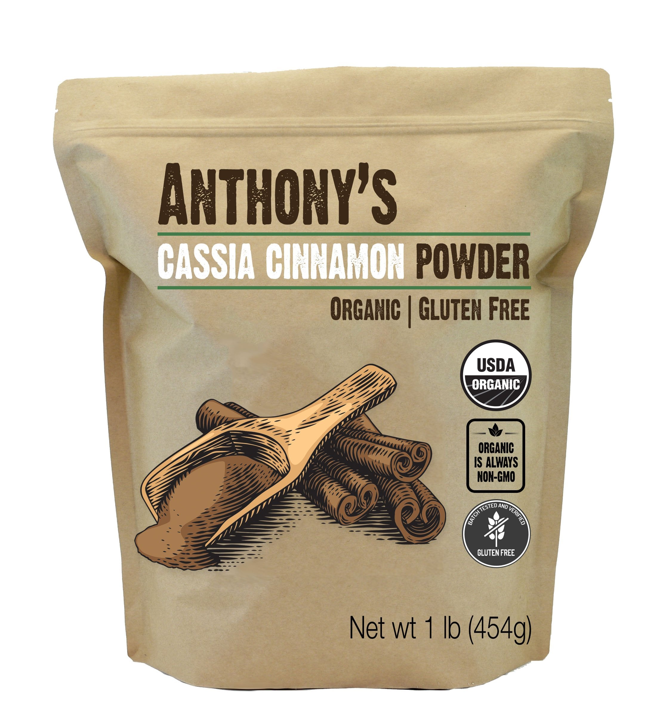 Cassia Cinnamon Powder: USDA Organic & Batch Tested Gluten Free