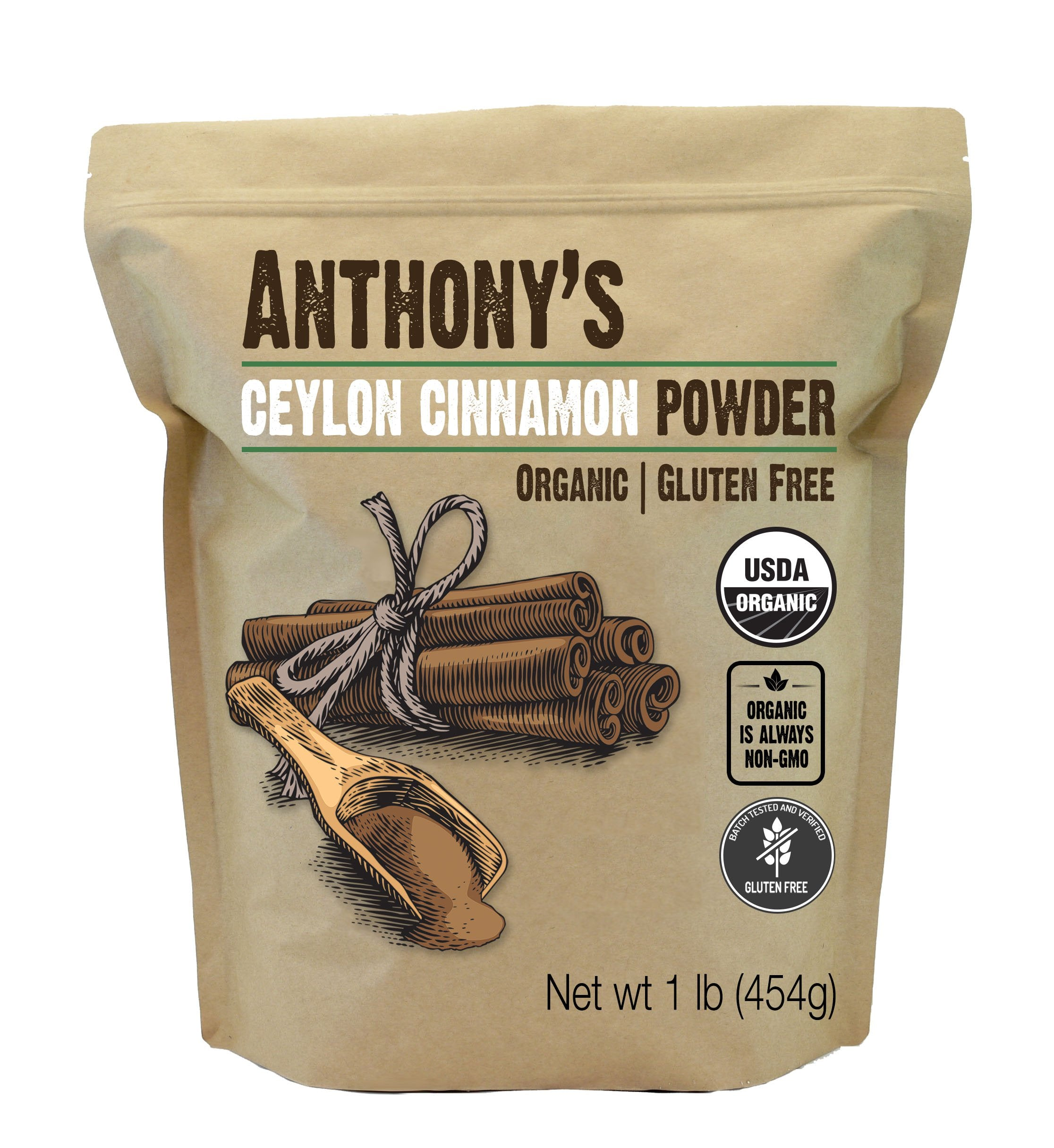 Ceylon Cinnamon Powder: USDA Organic & Batch Tested Gluten Free