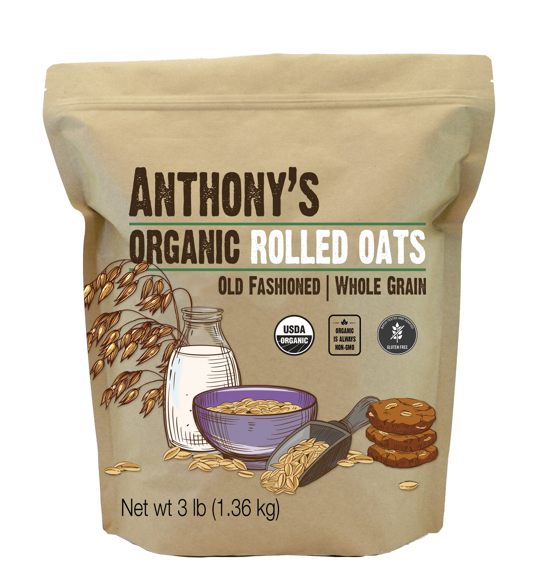 Old Fashioned Rolled Oats: Organic & Gluten Free