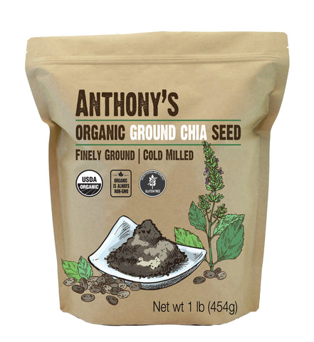 Organic Ground Chia Seeds: Gluten Free, Non-GMO