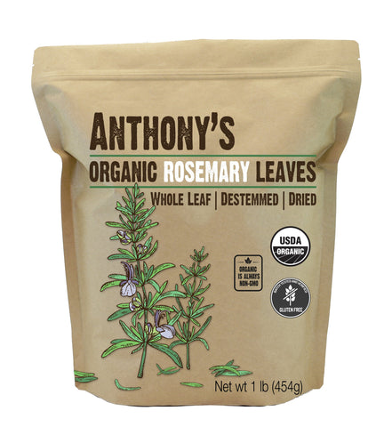 Dried Rosemary Leaves: Organic & Gluten Free