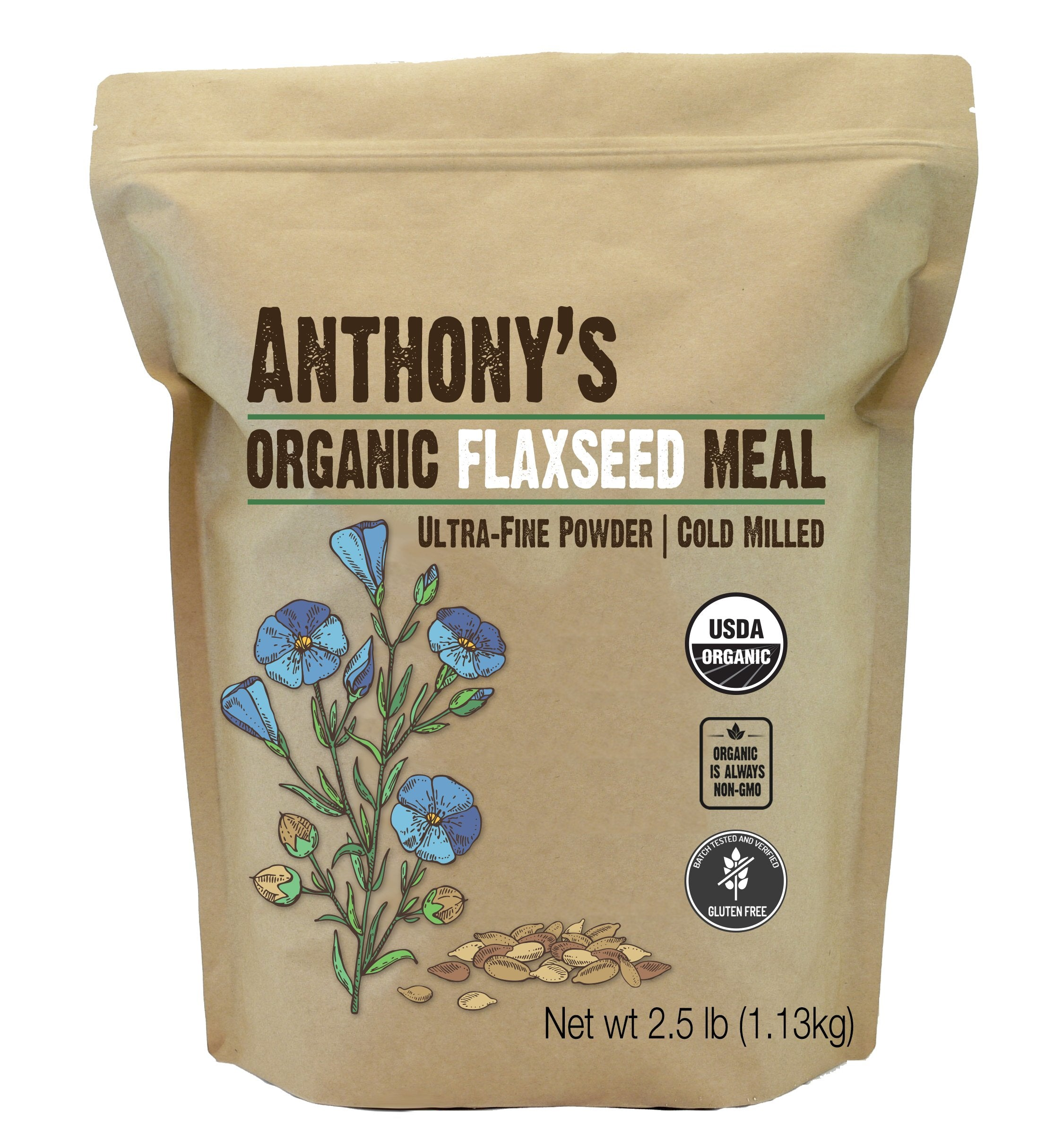 Flaxseed Meal: USDA Organic, Gluten Free, Ground Ultra-Fine