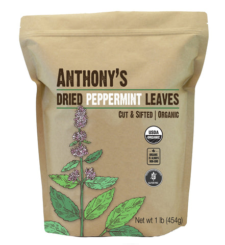Peppermint Leaves: USDA Organic, Batch Tested Gluten Free, Cut & Sifted