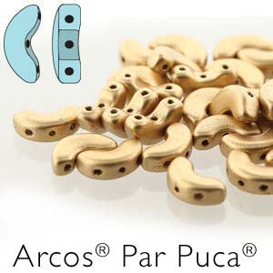 Arcos Beads  Light Gold Mat
