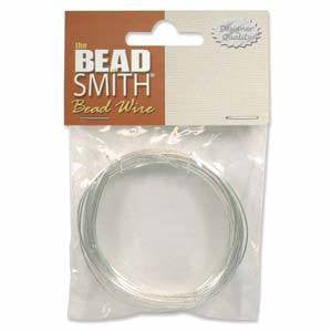 BeadSmith German Bead Wire Silver 18 Gauge
