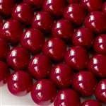 Beads - Glass Round Beads Dark Red