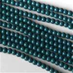 Beads - Glass Round Beads         Dark Turquoise