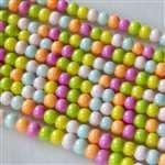 Beads - Glass Round Beads Rainbow Mix