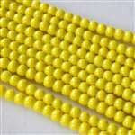 Beads - Glass Round Beads Yellow