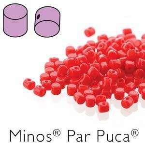 Minos Beads Opaque Coral Red