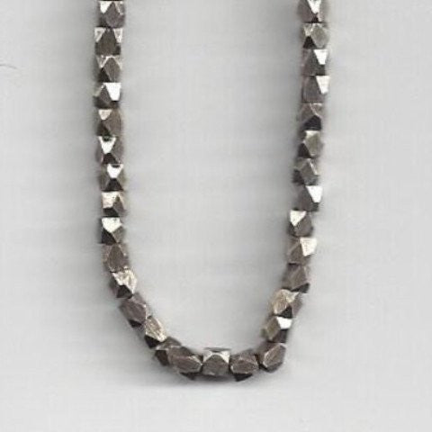 Nugget Beads Antique Silver