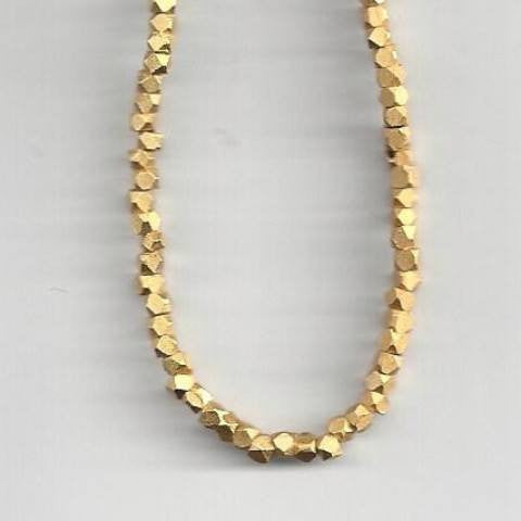Nugget Beads Dull Gold