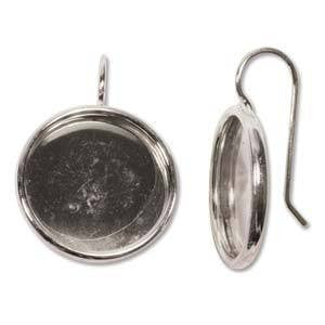 Bezels  - Bezel Earrings Round