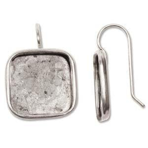 Bezels  - Square Bezel Earrings