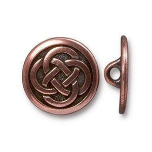 Button - Button Celtic Knot  TierraCast Copper
