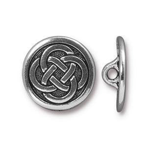 Button Celtic Knot  TierraCast Silver