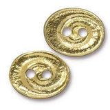 Button - Button Swirl  TierraCast Gold