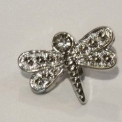 Dragonfly Button   Silver